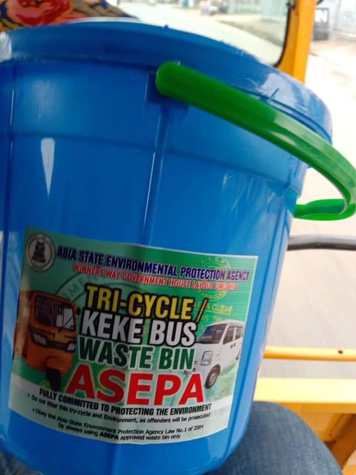 ASEPA Waste Bucket and keke operators
