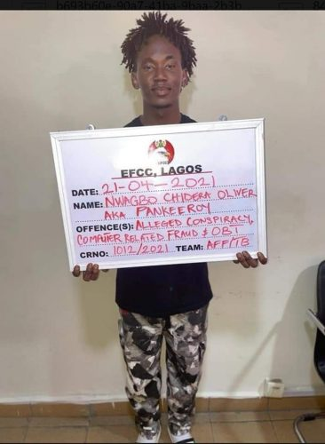 Nwagbo Oliver Chidera Arrested over fraud