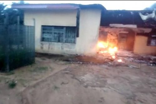INEC office on fire in akwa ibom state