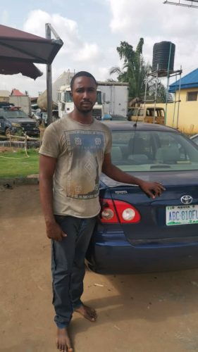 Ibeh George Udoka Arrested on his way to sale employers car